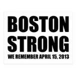 Recordamos Boston Tarjeta Postal