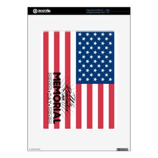 Recordamos el Memorial Day Skin Para El iPad