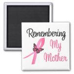 Recordando a mi madre - conciencia del cáncer de p imán de nevera