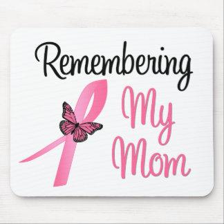 Recordando a mi mamá - conciencia del cáncer de pe tapetes de ratones