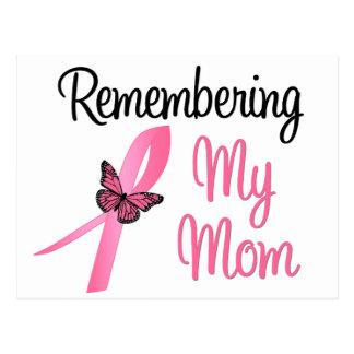 Recordando a mi mamá - conciencia del cáncer de pe postales