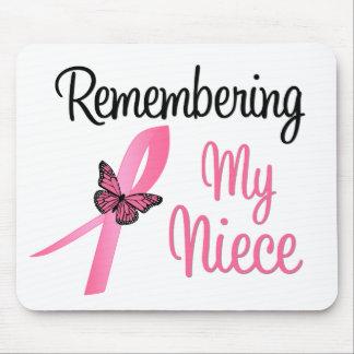Recordando a mi sobrina - conciencia del cáncer de alfombrillas de raton