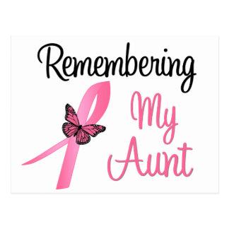 Recordando a mi tía - conciencia del cáncer de pec tarjeta postal