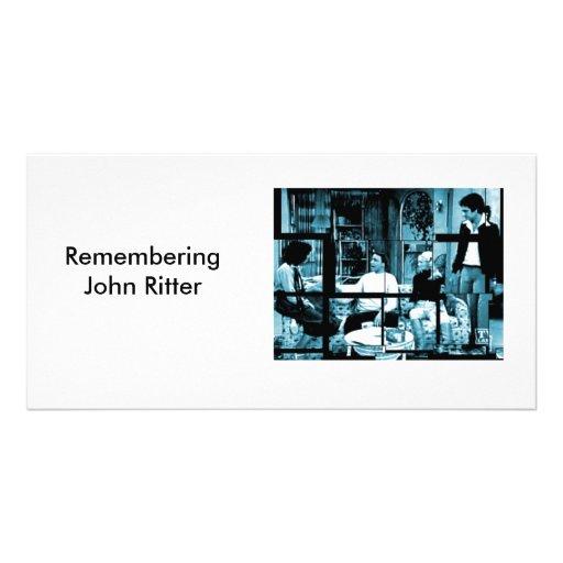 Recordar a John Ritter Tarjeta Personal Con Foto