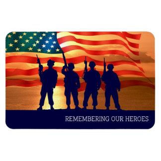 """Recordar a nuestros héroes. 4"""""""" imán del regalo x6"""