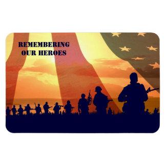 """Recordar a nuestros héroes. 4"""" X 6"""" imán del"""