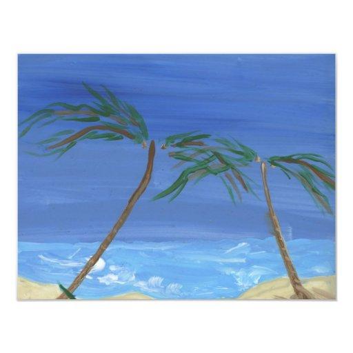 Recordar arte soleado del paisaje de las épocas invitación 10,8 x 13,9 cm