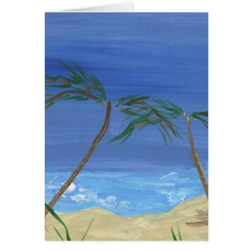 Recordar arte soleado del paisaje de las épocas tarjeta de felicitación