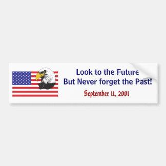 Recordar el 11 de septiembre de 2011 etiqueta de parachoque