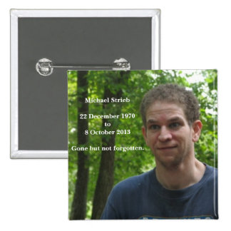 Recordar el botón de Michael Pin Cuadrado