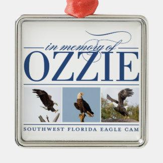 Recordar el ornamento del día de fiesta de Ozzie Adorno Navideño Cuadrado De Metal