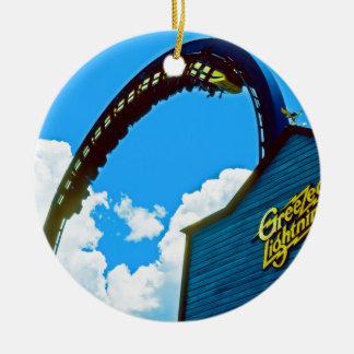Recordar el parque de atracciones del mundo de adorno redondo de cerámica
