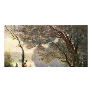 Recordar Mortefontaine de Corot Jean-Baptiste-c Tarjetas Fotograficas