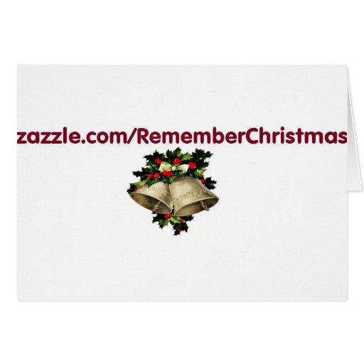 recordar-navidad tarjeta de felicitación