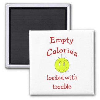 Recordatorio de la caloría - imán cuadrado