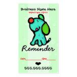 Recordatorio de plantillas de tarjeta de negocio