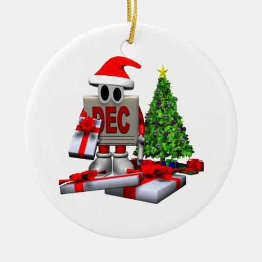 Recordatorio del navidad adorno navideño redondo de cerámica