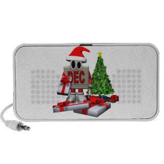 Recordatorio del navidad iPod altavoces