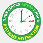 Recordatorio del tiempo de los ahorros de luz del  pegatina