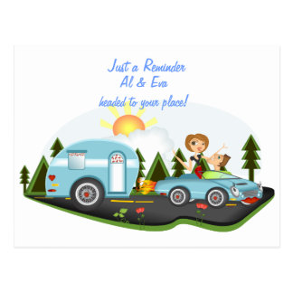 Recordatorio del viaje por carretera postal