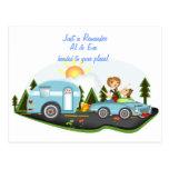 Recordatorio del viaje por carretera postales