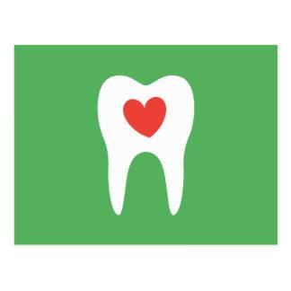 Recordatorio dental de la cita de la clínica del tarjeta postal