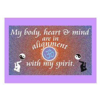 Recordatorio diario - alineación del cuerpo plantilla de tarjeta de visita