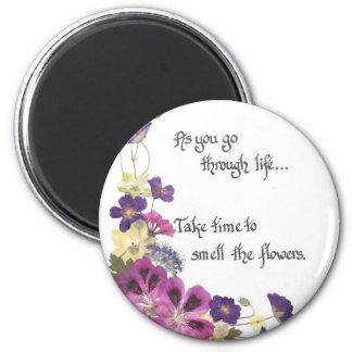 Recordatorio diario para retrasar y para disfrutar imán de frigorífico