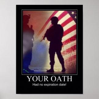 Recordatorio militar del juramento posters
