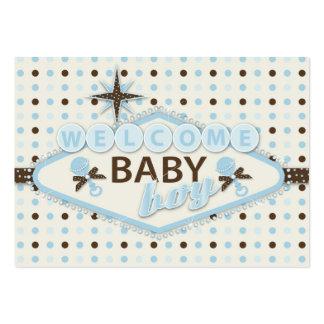 Recordatorio Notecard del bebé de Vegas Tarjetas De Visita Grandes