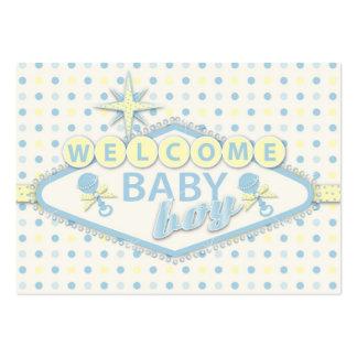 Recordatorio Notecard Y del bebé de Vegas Tarjetas De Visita Grandes