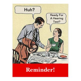 Recordatorio retro de la cita de los pares de la tarjetas postales