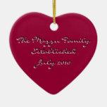 Recordatorio romántico ornamento para arbol de navidad