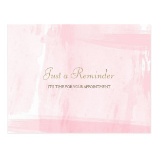 Recordatorio rosado simple de la cita de la postales