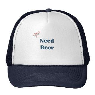 Recordatorios de la cerveza de la necesidad gorras de camionero