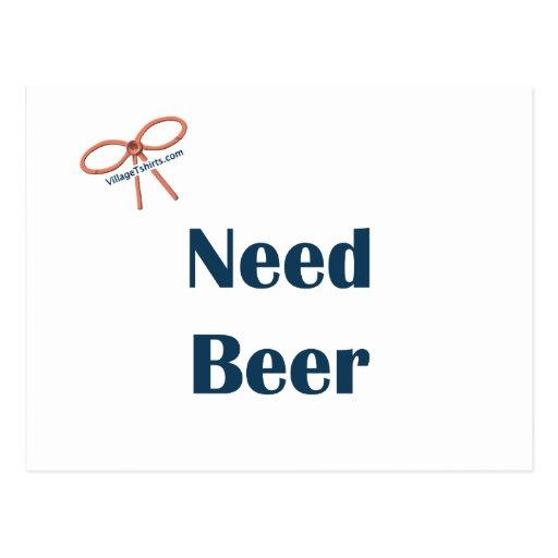 Recordatorios de la cerveza de la necesidad postal