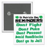 Recordatorios del día del St Patricks Pins