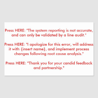 Recorded Response Makeshift Arm Implant Panel Rectangular Sticker