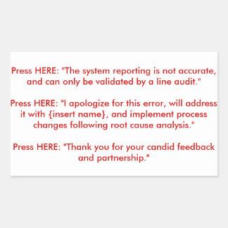 Recorded Response Makeshift Arm Implant Panel Rectangle Sticker