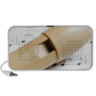 Recorder And Sheet Music PC Speakers