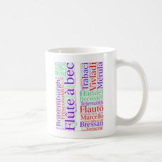 Recorder Cloud Coffee Mug