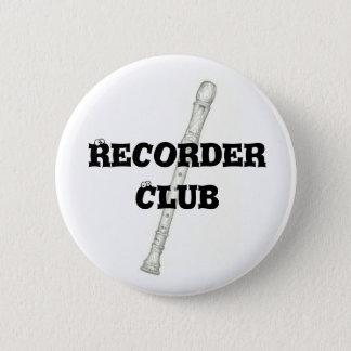 Recorder Club Pinback Button