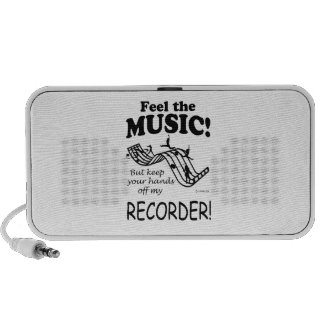 Recorder Feel The Music iPod Speakers