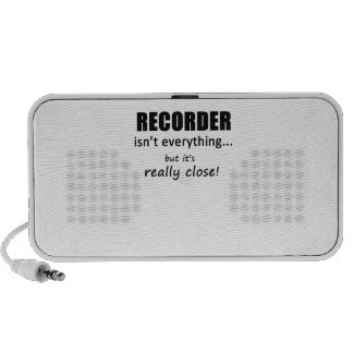 Recorder Isn't Everything iPod Speakers