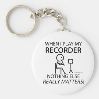 Recorder Nothing Else Matters Keychain