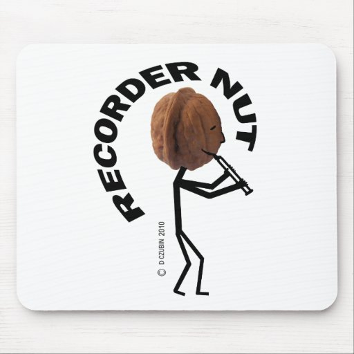 Recorder Nut Mouse Pads