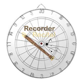 Recorder Recital Dartboard With Darts
