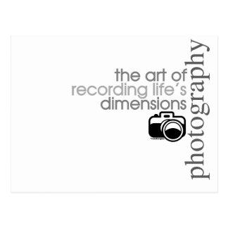 Recording Life's Dimensions Postcard