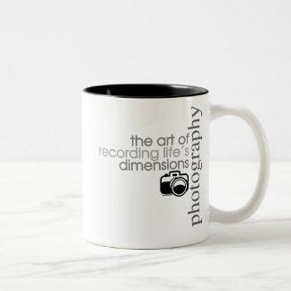 Recording Life's Dimensions Two-Tone Coffee Mug