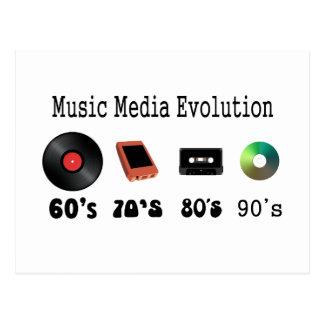 Recording Media Evolution Postcard